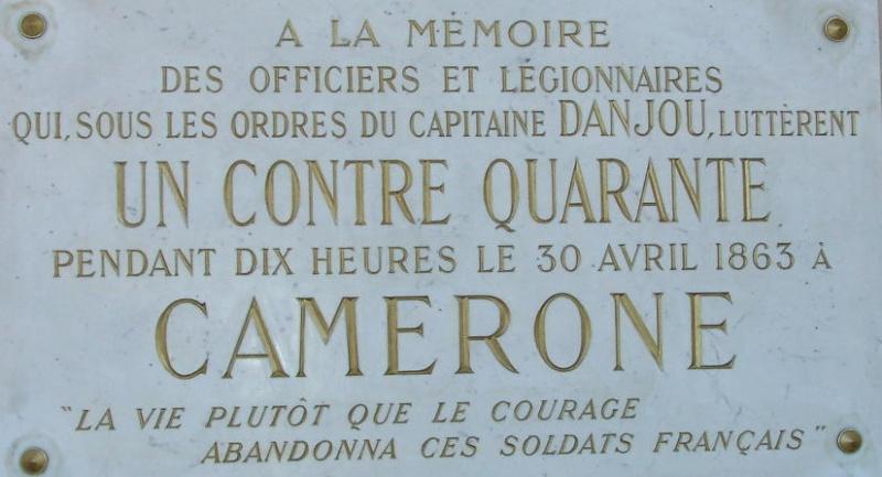 30 avril 1863 : CAMERONE
