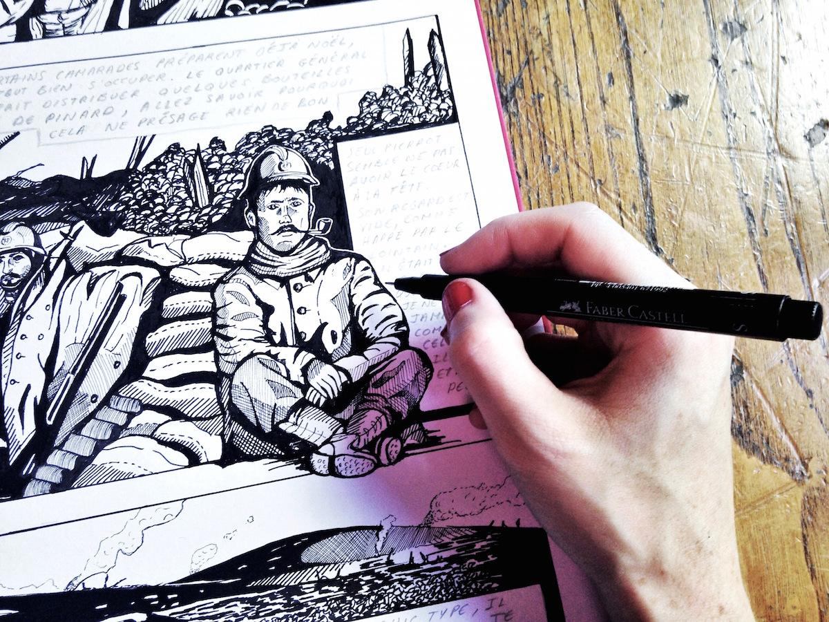 Un atelier BD sur la Grande Guerre pendant les JEP