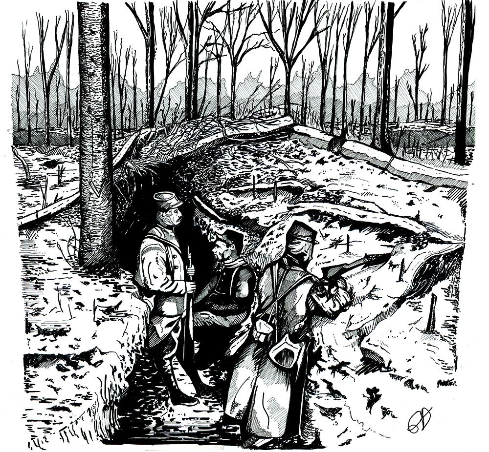 Hiver 1914 : La surprise des tranchées